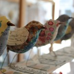 Jenny McCabe fabric sculptures, also available as kits to make up