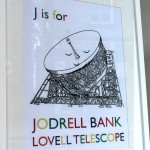 "Suzy Jones - ""J is for Jodrell Bank"" framed print"