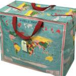 JUMBO STORAGE BAG WORLD MAP £4.99