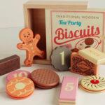 WOODEN TEA PARTY BISCUITS £10