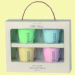 Set of 4 Egg Cup Pails £8