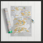 CYCLE CLIMBS SCRATCH MAP £12.99