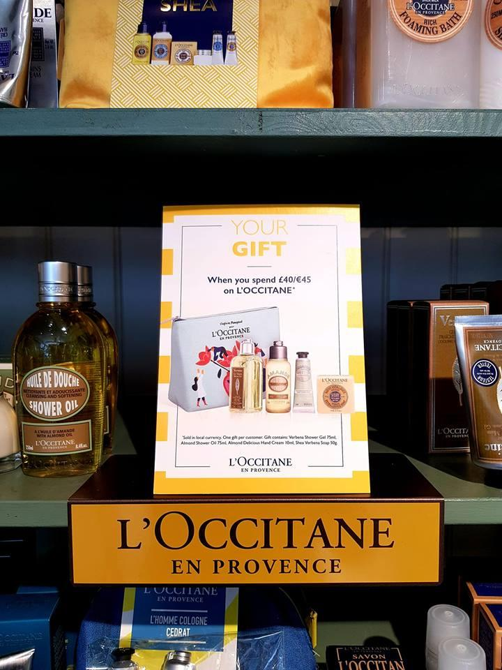 FREE GIFT WHEN YOU SPEND £40 OR OVER ON L'OCCITANE @ ARTERIA