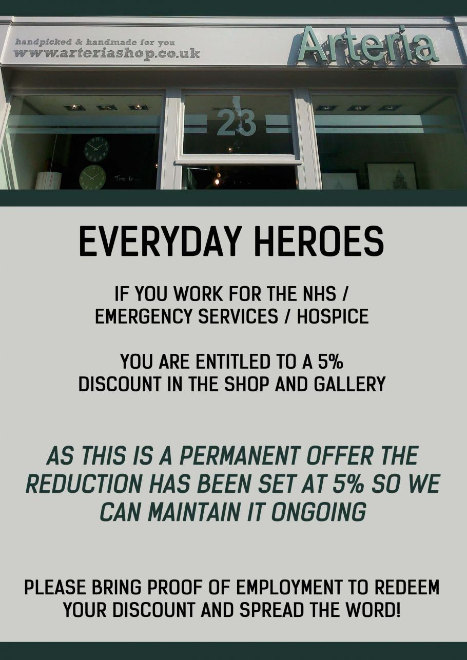 DISCOUNT FOR EVERYDAY HEROES
